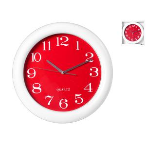H&H Orologio Paret Tondo /Rosso 37 Arredo E Decorazioni Casa