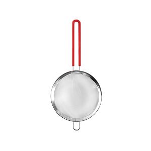 HOME Colino Acciaio Inox Manico Silicone Rosso 18 Utensili Da Cucina