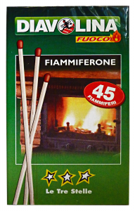Diavolina Fiammiferone Le Three Stars X 45 Pieces - Articles For Picnics