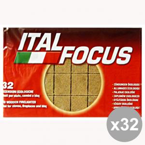 Set 32 ITALFOCUS Accendifuoco Ecologica * 32 Cubi Barbecue & pic-nic
