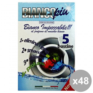 Set 48 ARCOBALENO SalvaCOLOR Bianco X 5 Bustine Detergenti casa