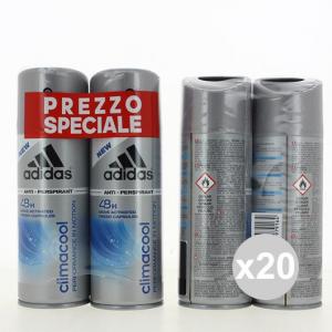 Set 20 Adidas Deodorant Spray 150x2 Climate Cool Fragrance For The Body