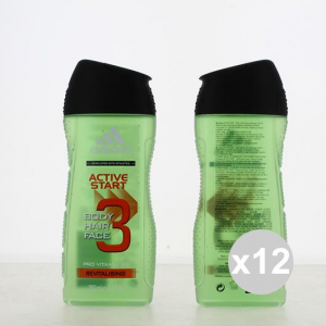 Set 12 Adidas Shower 250 3in1 Active Start Products For Bath And Shower