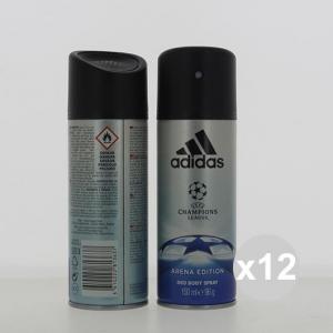 Set 12 Adidas Deodorant Spray 150 Uefa N3 Fragrance For The Body