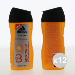 Set 12 Adidas Shower 250 Adipower Products For Bath And Shower