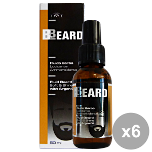 Set 6 BBEARD Fluido Barba Lucidante Ammorbidente 50 Ml. Profumi
