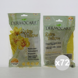 Set 72 Ajsia Gloves Dermocare Felp Ext M Yellow House Cleaning And Laundry Detergents