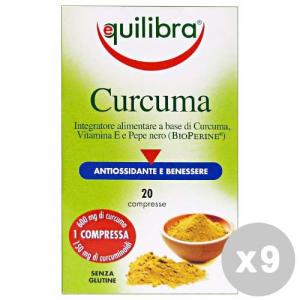 EQUILIBRA Set 9 EQUILIBRA Curcuma * 20 caps - prodotti alimentari