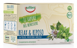 Equilibra Herbal Tea Bio Relaxation & Rest 20 Envelopes Treb Infusion Drink