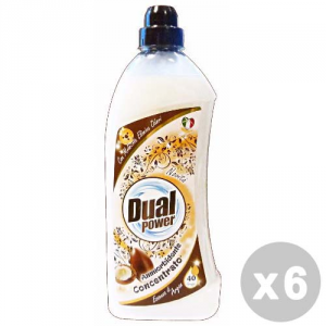 DUAL POWER Set 6 DUAL POWER Ammorbidente concentrato 40 lavaggi argan 1 lt.