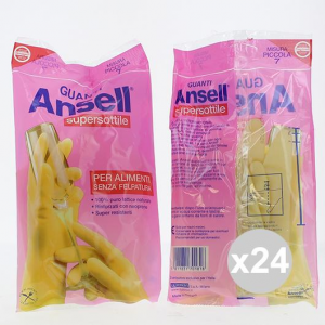 Set 24 Ansell  Gloves Super-thin Little House Cleaning And Laundry Detergents