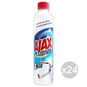 Set 24 AJAX Anticalcare Gel Attivo 500 Ml Deterisvo Detergente Pulizia Della Casa