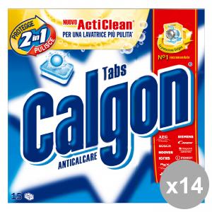 Set 14 CALGON Anticalcare X 15 Pastiglie Detergenti casa