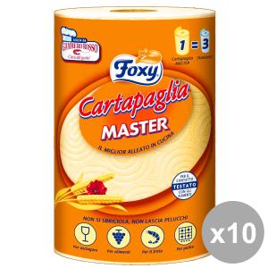 Set 10 FOXY X 1 ASCIUG.CartaPAGLIA Accessori per la cucina