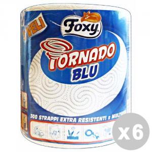 FOXY Set 6 FOXY Asciugatutto tornado blu 300 strappi 3 veli
