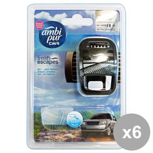 AMBI PUR Set 6 Auto Base Sky Deodorant Accessories Auto And Motor