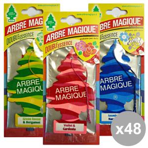 Set 48 Arbre Magique Deodorant Double Essence Cash Mixed Accessories Car And Motor
