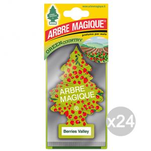 Set 24 ARBRE MAGIQUE Deodorant Berries Valley Perfume For Cars