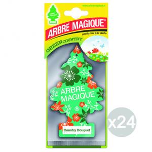 Set 24 ARBRE MAGIQUE Deodorante Country Bouquet Profumatore Per Auto