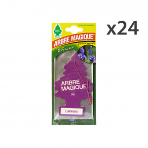 Set 24 ARBRE MAGIQUE Desodorante Lavanda Accesorios Coche Y Motocicleta