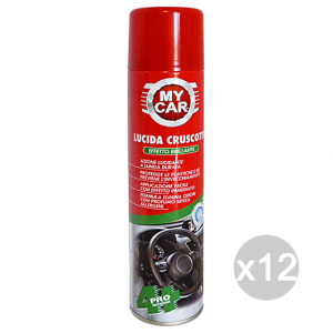 Set 12 MY CAR Lucidafacile Cruscotti Spray 400 Ml Pulizia Parti In Plastica Auto