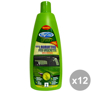 Set 12 MY CAR GREEN LavaVETRO Per VASCHETTE 750 Ml. Accessori auto e moto
