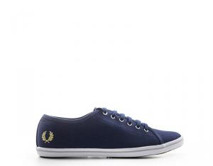 FRED PERRY Sneakers Trendy donna blu con tomaia in tessuto Scarpe e Calzature