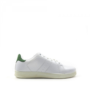 BEST BUY SHOES Sneakers uomo bianco/verde scarpe da ginnastica sport tempo libero