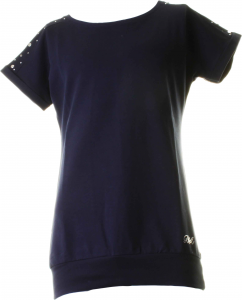 Baci & Abbracci Women's Crew Neck Sweatshirt 94% Cotton- 6% Elastane Blue Ba 193