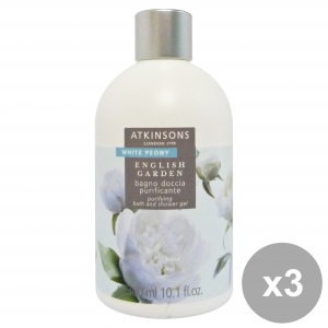 Set 3 Atkinsons Bathroom White Peony 300 Ml Soaps And Cosmetics