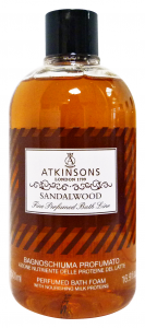 ATKINSONS Bagno SANDAL WOOD 500 Ml. Saponi e cosmetici