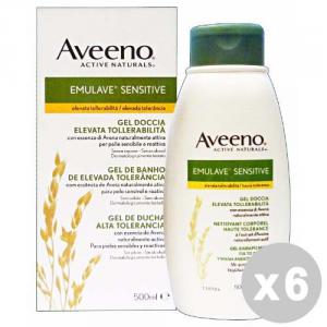 AVEENO Set 6 AVEENO Bagnodoccia sensitive 500 ml. - bagno schiuma