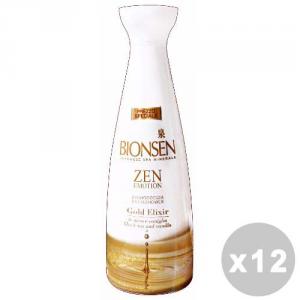 BIONSEN Set 12 BIONSEN Bagno zen gold elixir te nero/vaniglia 500 ml.