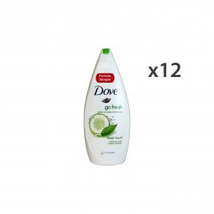 DOVE Set 12  Bagno Fresh Touch 700 Ml.  Saponi E Cosmetici