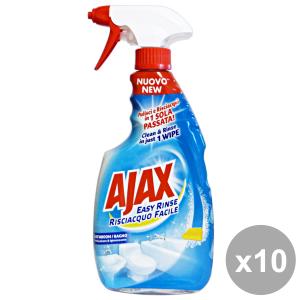 Set 10 AJAX Bagno EASY RISCIAcqua FACILE TRIGGER 600 Ml.  Detergenti casa