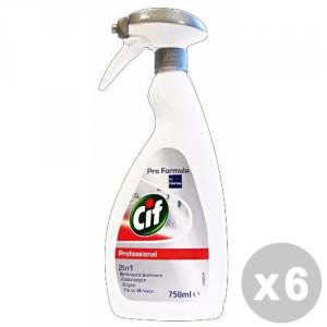 CIF Set 6 CIF Detergente professionale bagno 2 in 1 750 ml.