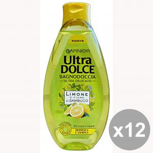 GARNIER Set 12 Ultradolce Bagno 500 Ml. Limone-Fiori Di Sambuco Saponi E Cosmetici