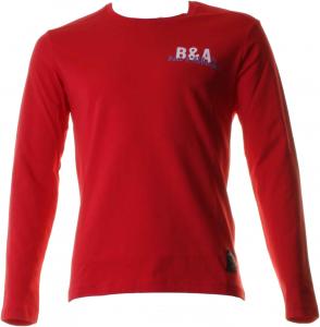 BACI & ABBRACCI T-shirt girocollo maniche lunghe uomo rosso BAM927-ROSSO