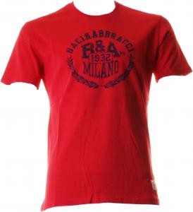 BACI & ABBRACCI T-shirt girocollo maniche corte uomo rosso BAM939-ROSSO