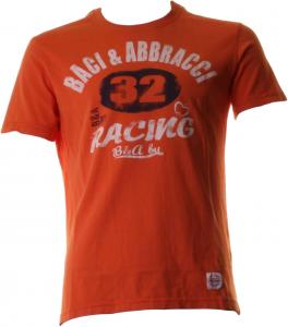 BACI & ABBRACCI T-shirt girocollo maniche corte uomo arancione BAM940-ARANCIO