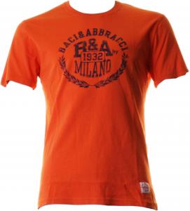 BACI & ABBRACCI T-shirt girocollo maniche corte uomo arancione BAM939-ARANCIO