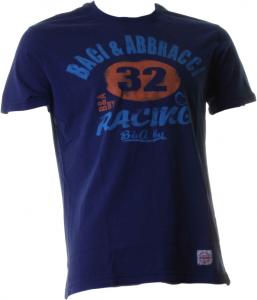 BACI & ABBRACCI T-shirt girocollo maniche corte uomo blu BAM940-BLU
