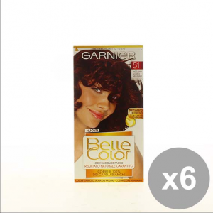 Set 6 Belle Color 51 Mogano Scuro Colorazioni Per Capelli