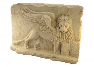 Low Relief Lion Of San Marco In Italian Marble, Hand-carved Crafts