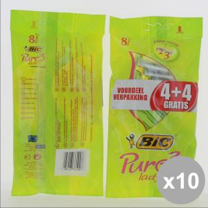 BIC Set 10 Rasoi Lady Pure3 4+4Pz