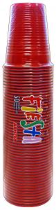 Bicchieri 50 pz. rosso 200cc art.218437 - Articoli per pic-nic