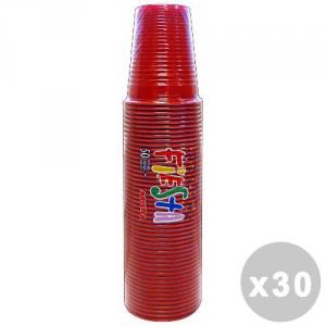 Set 30 Bicchieri 50 Pezzi Rosso 200CC ART.218437 Bicchieri