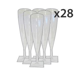Set 28 Bicchieri 6 Pezzi FLUTE CHAMPAGNE TRASPARENTI Bicchieri