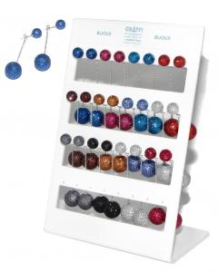 Earrings Pending Spheres Glitter O06181 Accessory Woman