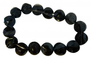 DEBBY Bracelet Black Stones Faceted Small - Accessories Toilets